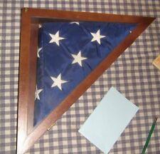 4' x 6' Nylon Us Flag + Wood Display Case,Valley Forge,Interment,Veterans, Dod