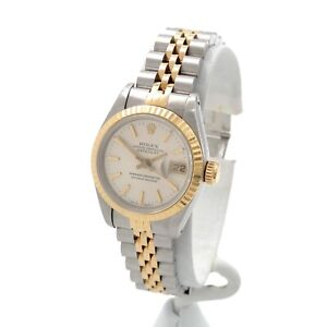 ROLEX OYSTER DATEJUST 18K YELLOW GOLD STAINLESS STEEL WRIST WATCH #W1205-6