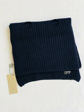 Kids I Pinco Pallino 100% Virgin Wool Navy Knit Scarf