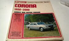 1974 1975 1976 TOYOTA CORONA  1800 & 2000  Workshop Manual