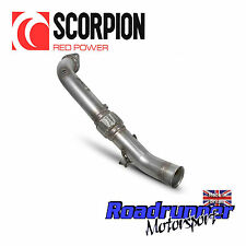 "SCORPION 3"" DECAT DOWNPIPE Ford Focus RS MK3 acier inoxydable de cat pipe d'échappement neuf"