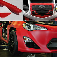 76*30cm Car SUV Red DIY 3D Carbon Fiber Wrap Paper Vinyl Film Roll Car Sticker