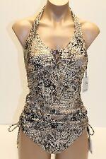 NWT Calvin Klein Swimsuit Bikini 2 piece Set Brown Tankini Size S M