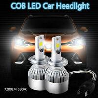 2pc Super Bright COB H7 C6 7200LM 72W LED Car Headlight Fog Light Lamp Bulb NEW