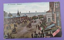 The Promenade, Blackpool incl. Oyster Rooms & Auctioneers, Original old Postcard