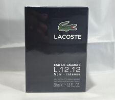 Eau De Lacoste Noir L.12.12 By Lacoste 1.6 / 1.7 Oz EDT SP NIB Sealed For Men