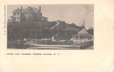1905 Hotel Little Hay Harbor Fishers Island LI NY post card