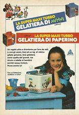 X7045 La Super Maxi Turbo gelatiera di Paperino - Pubblicità 1990 - Advertising