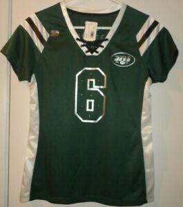 REEBOK Women's NFL N.Y. JETS  SANCHEZ JERSEY Sz S-M Top Sequins Bling