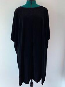 NWT Eileen Fisher Woman Black Velvet Dress Sz 3X