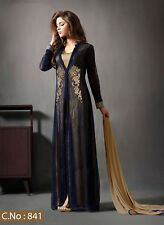 Ethnic Anarkali Salwar Kameez Designer Muslim Suit Indian Pakistani Dress 841