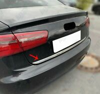 2011-2018 Audi A6 4G C7 Chrome Rear Trunk Tailgate Lid Molding Trim S.Steel