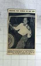1960 Peter Dakin Of Whalley Lancashire Round World In £30 Jeep