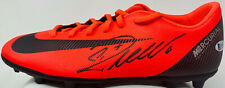 Cristiano Ronaldo Signed Nike Soccer Cleat Red CR7 Beckett BAS Witnessed COA