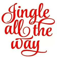 Jingle All The Way X 8 Vinyl Wine Glass Bauble Decals Stickers