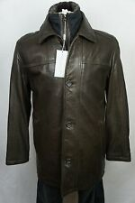 NWT Andrew Marc New York Brown Leather Trench Coat Jacket Shearling S-XXL