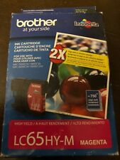 GENUINE BROTHER LC65HY-M HIGH YIELD INK CARTRIDGE MAGENTA