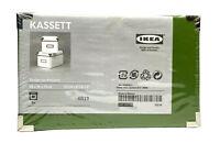 "IKEA Set of 2 KASSETT Storage Boxes - Green - NISP - 10 1/4"" X 6 1/4"" X 6"""