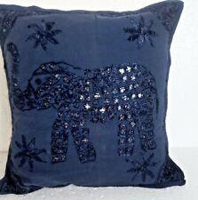 An Ethnic Embroidery Mirror Work Throw Pillow Cushion Cover India