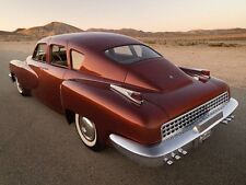 1947 Tucker Car Concept  1 24 Classic Vintage Carousel Maroon Metal Model 18