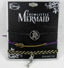 Disney The Little Mermaid Ariel Icons Cord Bracelet Set Charms 3 Pack Arm Party