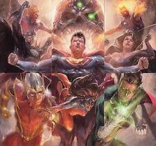 DC COMICS SUPER VILLAINS 2015 CRIME SYNDICATE INSERT CARD SET CS1 - CS6