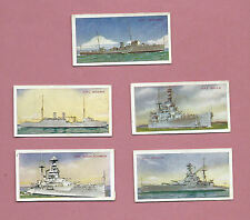 Part Set of 5 out of 50 1937 Carreras Cigarette Cards - Our Navy