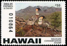 HAWAII #9 2004 STATE DUCK STAMP NENE GOOSE  by Joy Keown