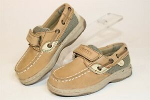Sperry Top-Sider Toddler Baby 7 M 23.5 Bluefish H&L Leather Casual Boat Shoes