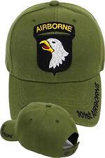 101st Airborne Insignia Hat - U.S. Army OD Green Military Hat Baseball Cap