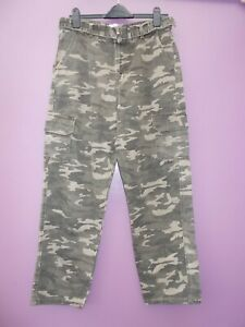 new look camouflage trousers size14 with belt