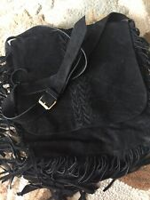 Raj Cross Body Suede Fringe Bag Bohemian Large Shoulder bag Rust Black Beige Tan