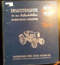 Eicher Dieselschlepper ED26 (26 PS) Ersatzteilkatalog