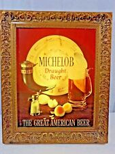 Vintage Michelob Draught Beer Lighted Advertising Sign Man Cave Decor