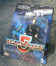 Babylon 5 figure Captain John Sheridan W Space Station -Exclusive Premiere Moc