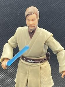 "NEW Hasbro Star Wars Obi-Wan Kenobi Figure 3.75"" MINT w/Lightsaber Revenge Sith"