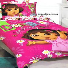 Dora the Explorer - Sunshiny Day - Single/US Twin Bed Quilt Doona Duvet Cover