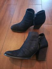 Paul Green Malibu Bootie black leather Womens size 7UK /9.5 US