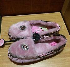 MOSSY OAK Womens Pink Camo Shotgun Shell Moccasins Slippers Shoes 57154222 NWT