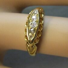 18 ct GOLD second hand antique victorian 5 stone diamond ring