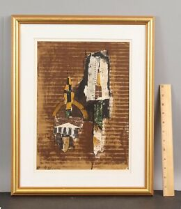 Authentic Ltd Ed JOHNNY FRIEDLAENDER French Abstract Stone Lithograph Print NR