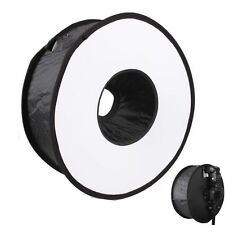 """New 18""""/45cm Round Universal Collapsible Ring Flash Diffuser Soft Box SoftBox"""