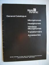BEYER DYNAMIC 44 A4 PAGES FULLY ILLUSTRATED VINTAGE UK PRODUCT CATALOGUE 1978
