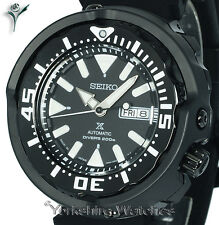 New SEIKO PROSPEX BLACK TUNA MONSTER DIVER WITH SILICONE BUCKLE STRAP SRPA81J1
