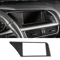 Carbon Fiber Navigation Panel Warning Lamp Frame Trim Cover for Audi A4 B8 09-16