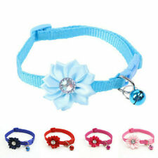 Pet Collars Small Dog Puppy Cat Adjustable Rhinestone Necklace Collar With Bell