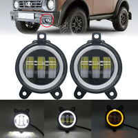 Pair 3.5Inch Round Car Led Foglight Fog Driving Light Reverse Lamp With halo 30W