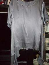 "JENNIFER LOPEZ,,NWT SZ 3X ""ICY ROMANCE/ CHARCOAL GRAY TOP/BLOUSE/RUFFLED /POINTS"