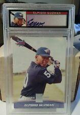 2001 Topps Reserve #119 Elpidio Guzman, Anaheim Angels RC autograph PSA mint 9