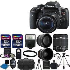 Canon Eos Rebel t6i Câmera Dslr + 3 Lente 18-55 Stm +24 gb Kit & Mais Novo em folha